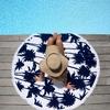 Serviette-de-plage-ronde-Palmeraie-bleu-ambiance-les-antillaises-2017-monpetitbikini