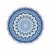 Serviette-ronde-La-Caribéenne-bleu-détouré-les-antillaises-2017-monpetitbikini
