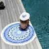 Serviette-ronde-La-Caribéenne-bleu-mannequin-les-antillaises-2017-monpetitbikini