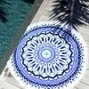 Serviette-ronde-La-Caribéenne-bleu-ambiance-les-antillaises-2017-monpetitbikini