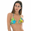 MAILLOT-DE-BAIN-TRIANGLE-MULTICOLORE-BORDS-ONDULÉS-TROPICAL-TROPICAL-BLUE-FRUFRU-TOP
