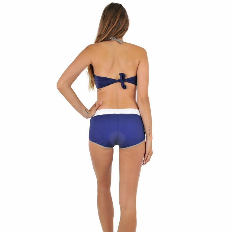 Short de plage bleu hip maillot de bain piscine bikini bar for Short de bain piscine