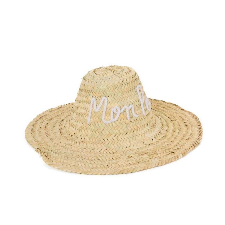 beau-chapeau-de-paille-motif-manuscrit-monpetitbikini-blanc