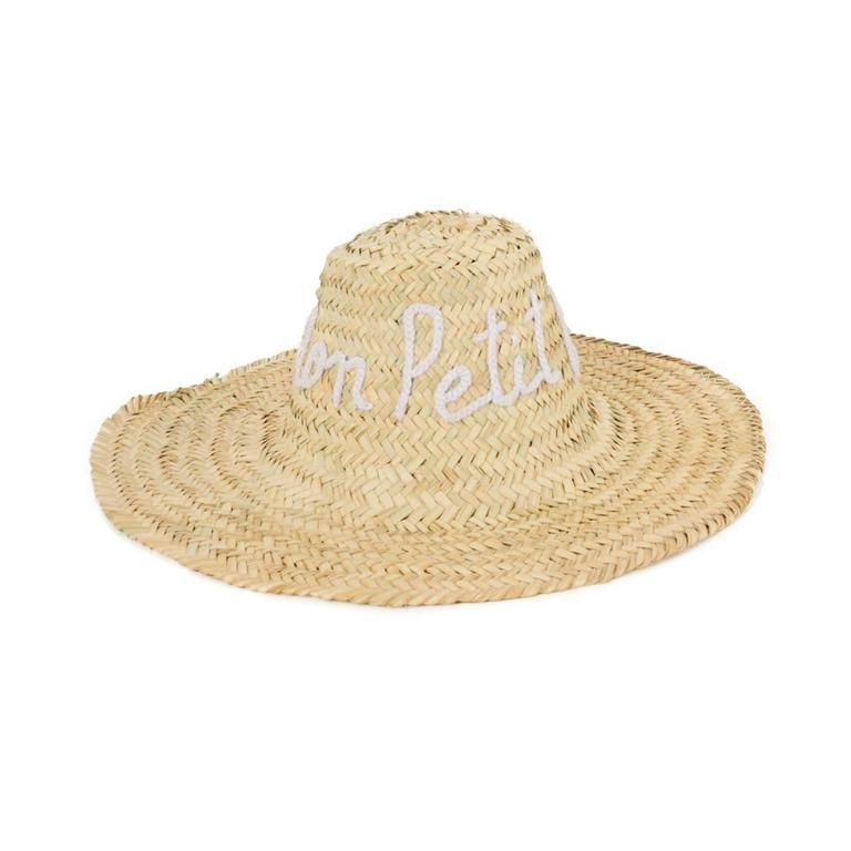 beau-chapeau-de-paille-motif-manuscrit-monpetitbikini-blanc-