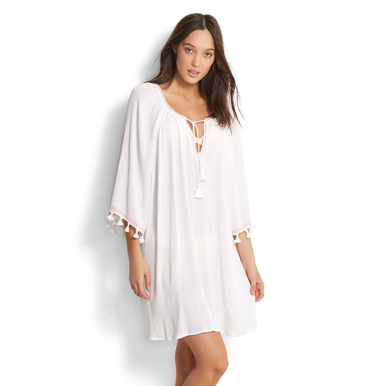 robe-tunique-de-plage-blanche-à-pompon_53203