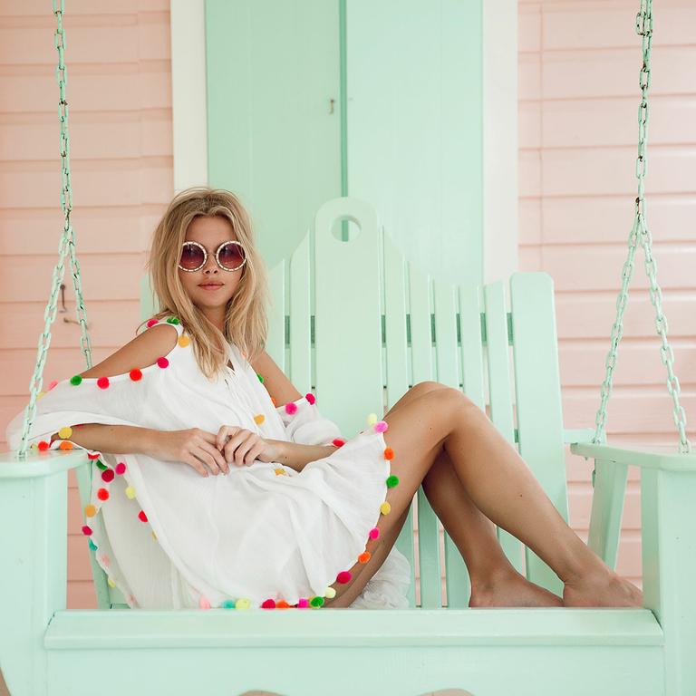robe-courte-boheme-sundress-pompom-blanche_OLGA