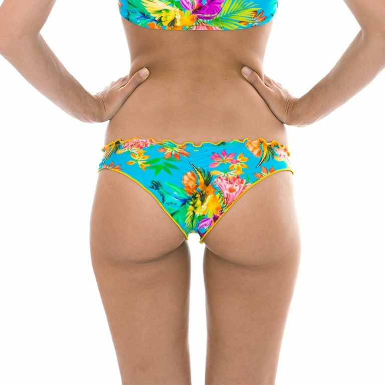 MAILLOT-DE-BAIN-CULOTTE-MULTICOLORE-BORDS-ONDULÉS-TROPICAL-dos-TROPICAL-BLUE-OMBRO-BOTTOM