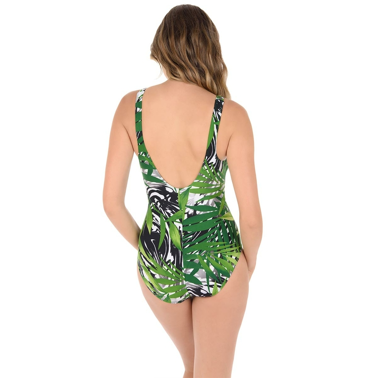 Maillot-une-pièce-amincissant-imprimé-tropical-vert-Charmer-dos-6511469-GRN