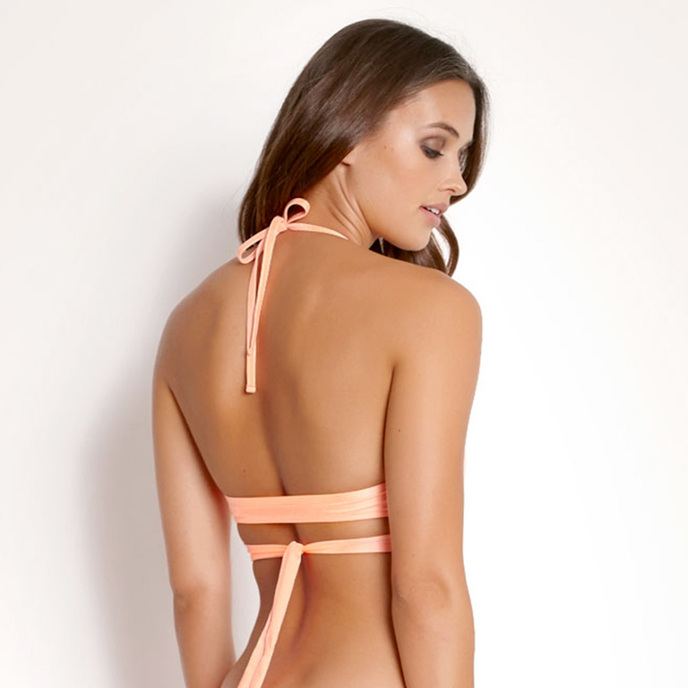 Maillot-de-bain-triangle-orange-corail-Summer-Solids-dos154-7220-592