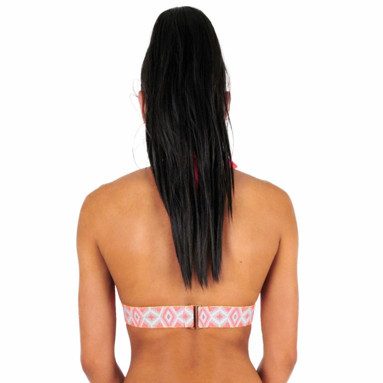 Maillot-de-bain-triangle-élastique-rose-corail-fluo-dos-monpetitbikini-MTRE-04