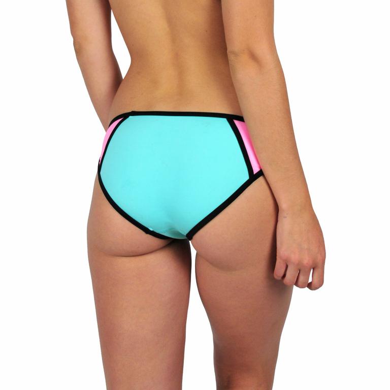 Mon-Bikini-Néoprène-vert-et-rose-dos-monpetitbikini-MNBB-08