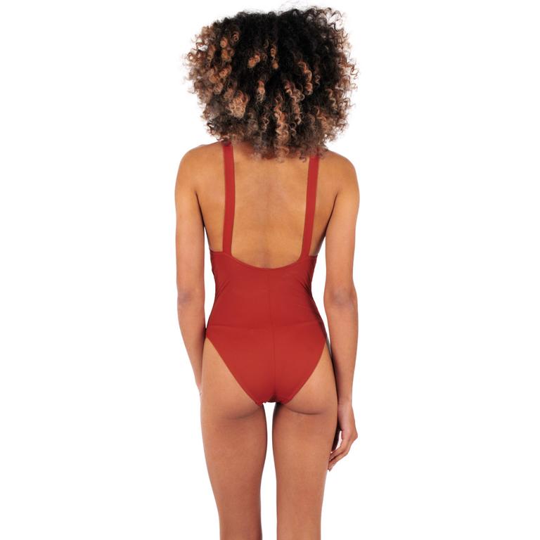 903089f56f Maillot de bain une pièce triangle orange - Bikini tendance 2018