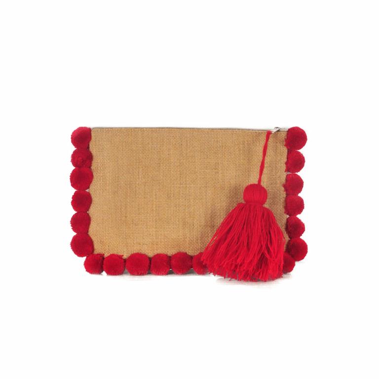 Pochette-à-pompons-rouges-monpetitbikini-POCHE-GROSPP-RED