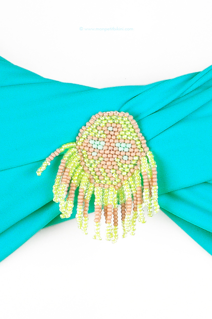 hipanema haut de maillot de bain bandeau turquoise t 2013. Black Bedroom Furniture Sets. Home Design Ideas