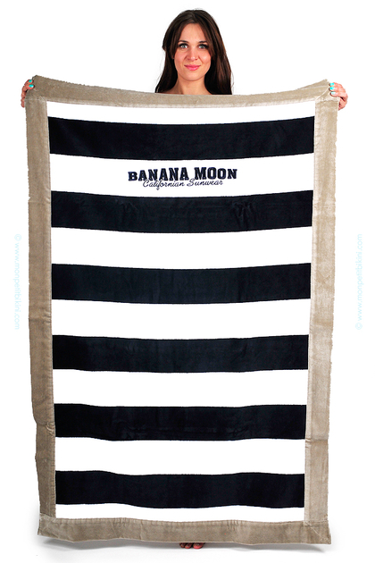 drap de plage banana moon grande serviette de plage bleu marine. Black Bedroom Furniture Sets. Home Design Ideas