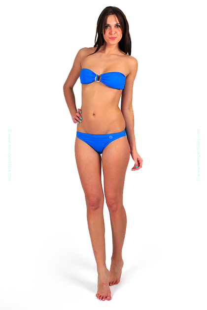 maillot bandeau bleu turquoise fluo morgan bikini. Black Bedroom Furniture Sets. Home Design Ideas
