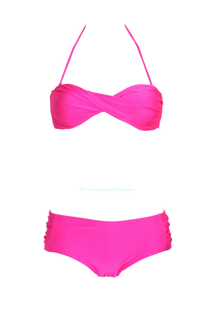maillot de bain shorty rose fuschia maillot de bain 2 pi ces rose. Black Bedroom Furniture Sets. Home Design Ideas