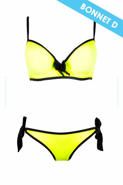 maillot de bain dag adom jaune fluo maillot de bain grand bonnet. Black Bedroom Furniture Sets. Home Design Ideas