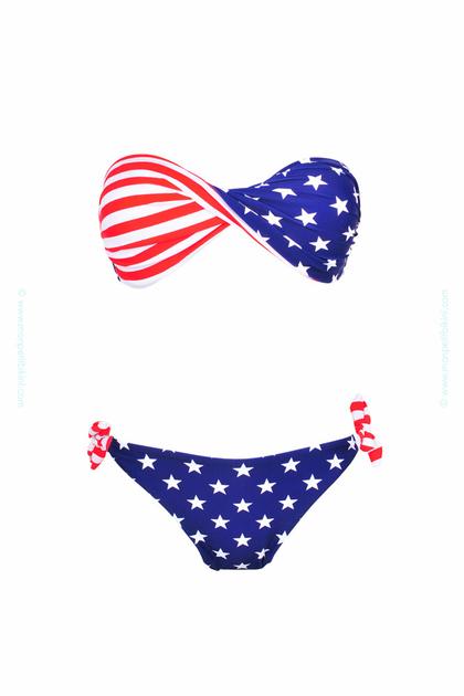 maillot de bain ado fille drapeau americain. Black Bedroom Furniture Sets. Home Design Ideas