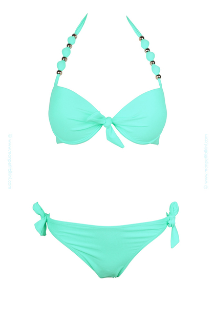maillot de bain balconnet vert pastel maillot de bain push up. Black Bedroom Furniture Sets. Home Design Ideas