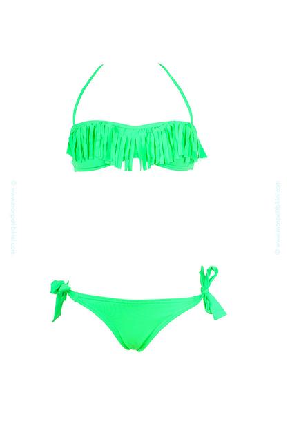 maillot-de-bain-enfant-à-franges-vert-fluo-pas-cher-d21ai