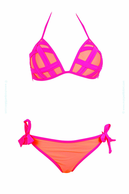 maillot de bain femme pas cher maillot de bain triangle rose. Black Bedroom Furniture Sets. Home Design Ideas