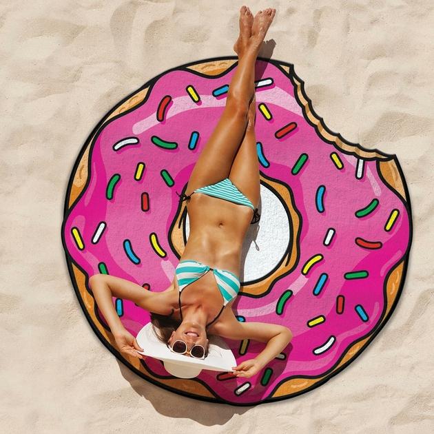 serviette de plage rose donut summer tendance sun big mouth. Black Bedroom Furniture Sets. Home Design Ideas