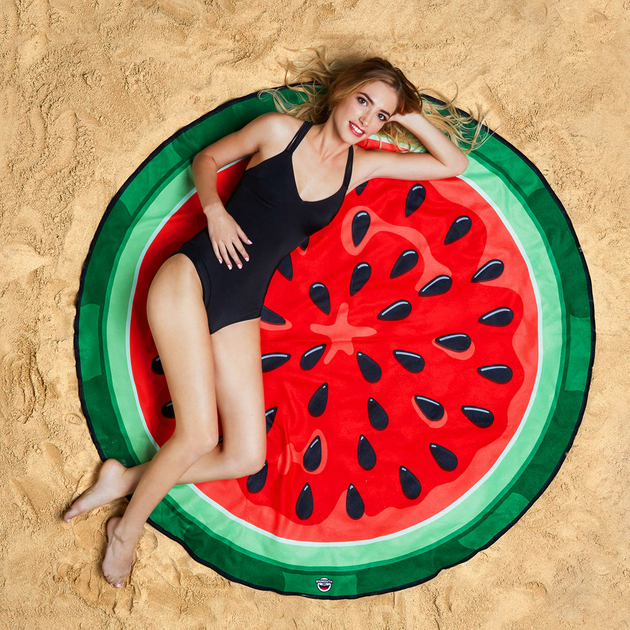 serviette de plage watermelon big mouth summer sun swimmingpool. Black Bedroom Furniture Sets. Home Design Ideas