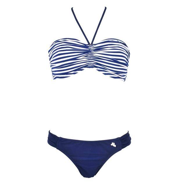 maillot de bain 2 pi ces bandeau bleu bonnet d pong marini re. Black Bedroom Furniture Sets. Home Design Ideas