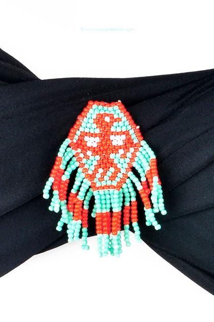 hipanema-noir-bandeau-maillot-de-bain-femme-deux-pieces-séparable-ethnique-bijou-bresilien-bracelet-piece-unique-fait-main-hippie-chic-perle-zoom