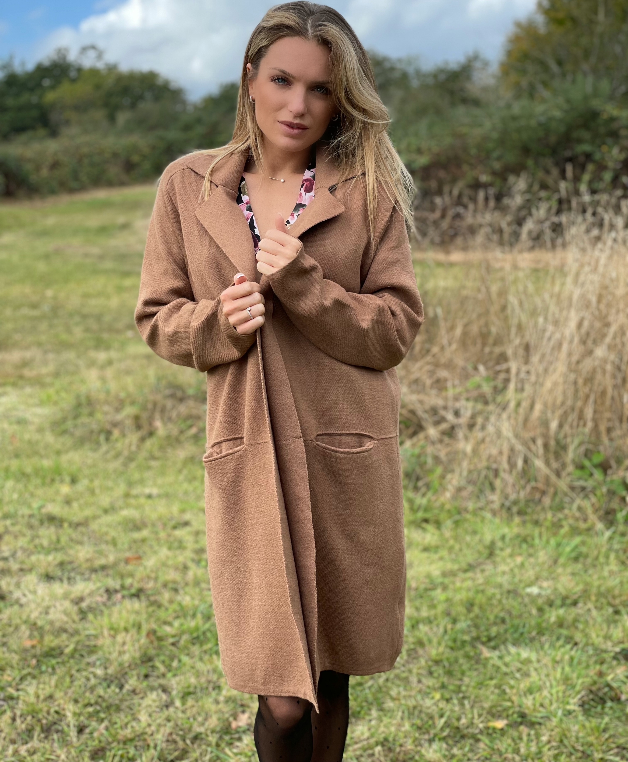 Gilet MOLLY coloris taupe