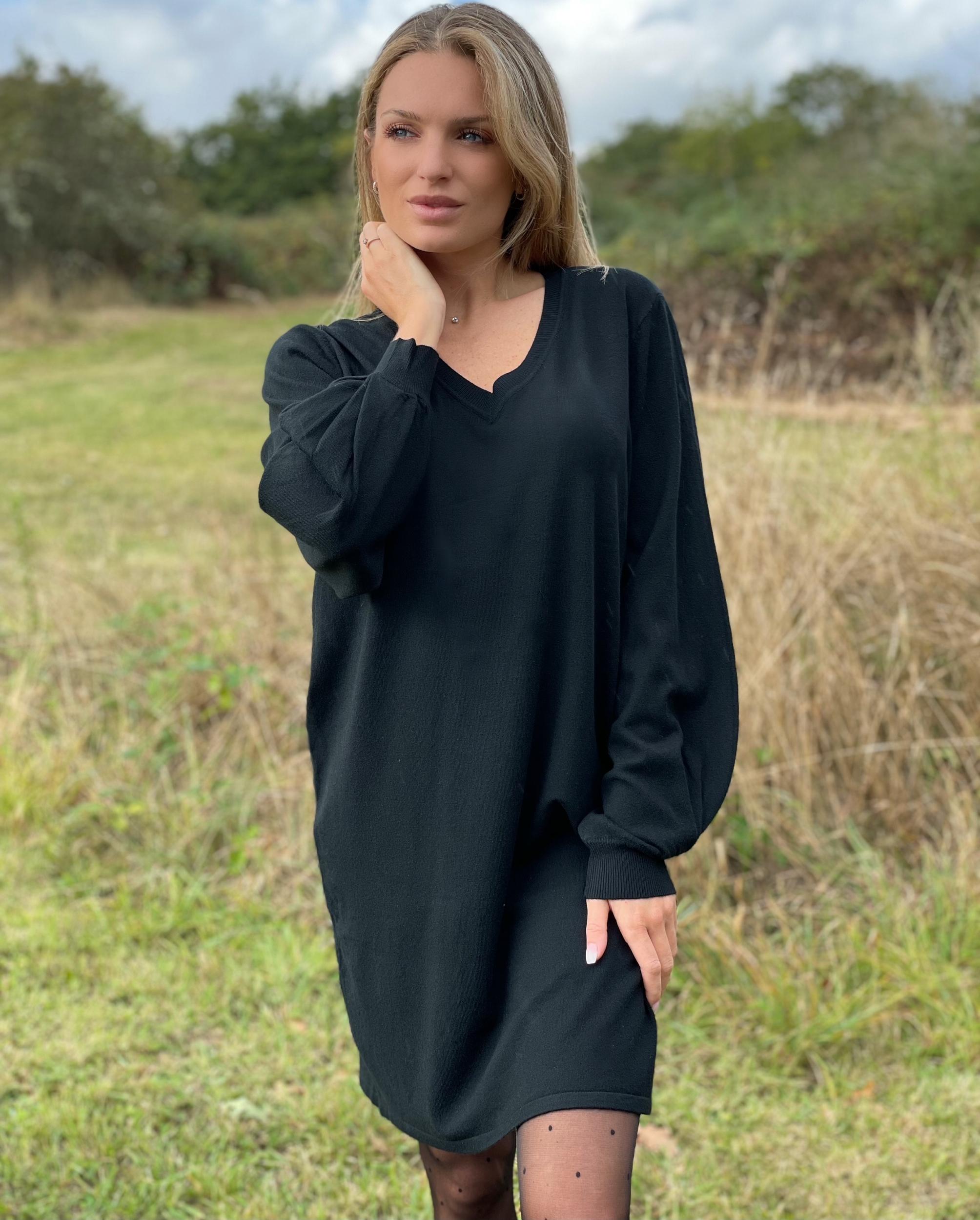 Robe pull SAMUEL coloris noir