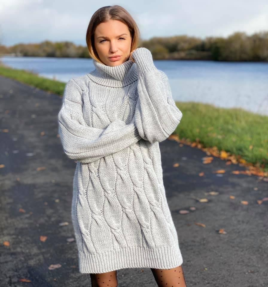 Robe pull ANGIE coloris gris