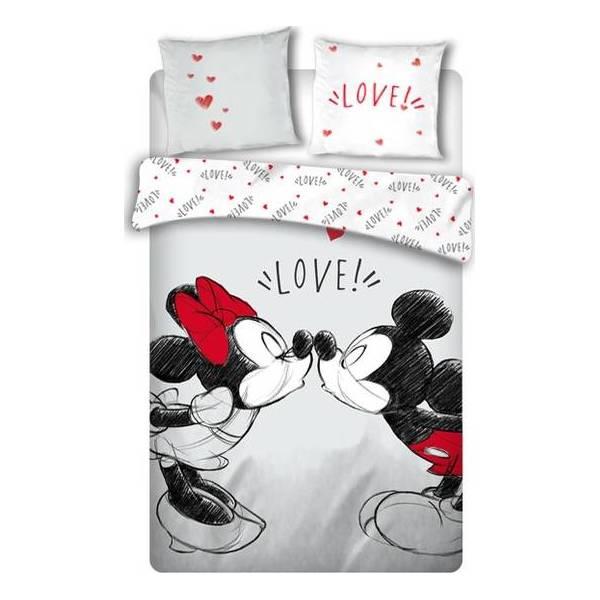 Parure de lit Mickey et Minnie love deux personnes
