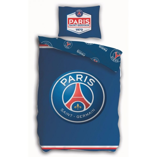 Parure de lit Paris Saint-Germain en coton