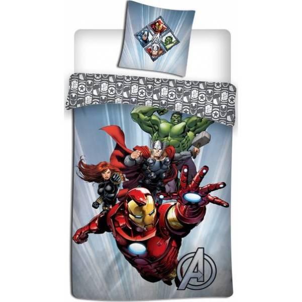 Parure de lit de Couette Avengers + Taie d Oreiller Avengers
