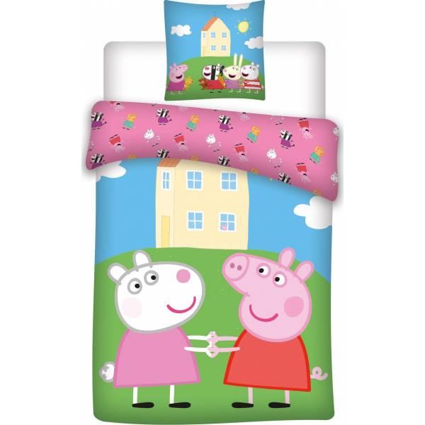 Parure de lit Peppa Pig en coton