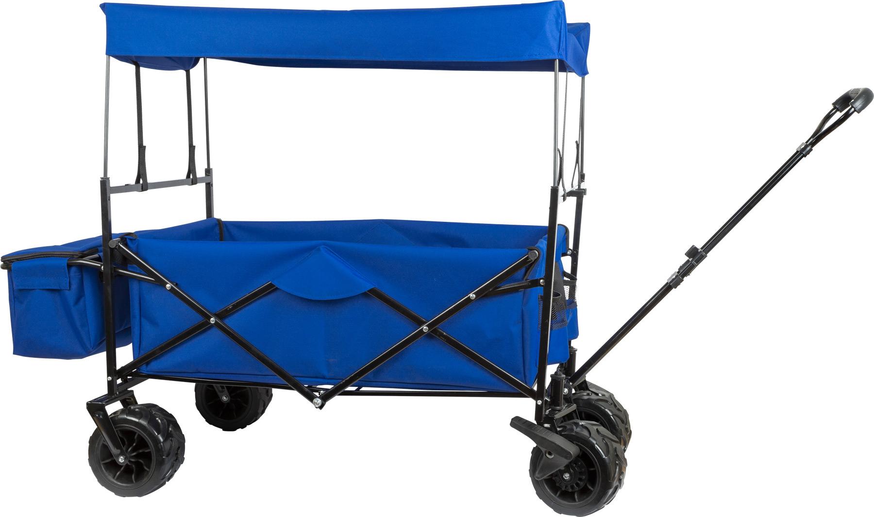 Chariot à tirer pliable avec toit