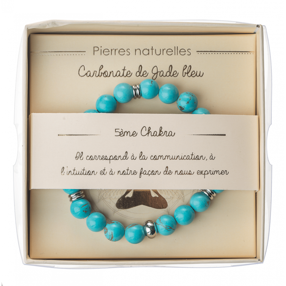 Bracelet chakras pierres naturelles communication