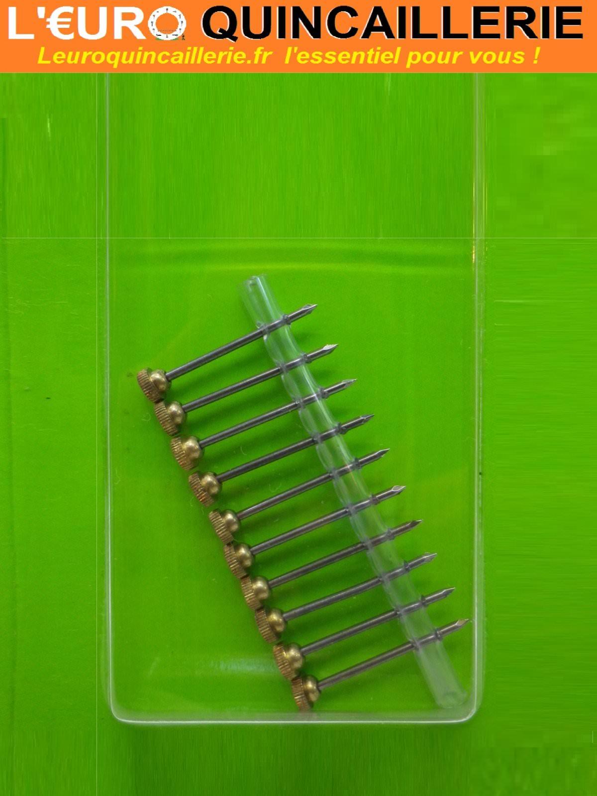 10 Aiguilles pour crochet tableau LUXE 25mm