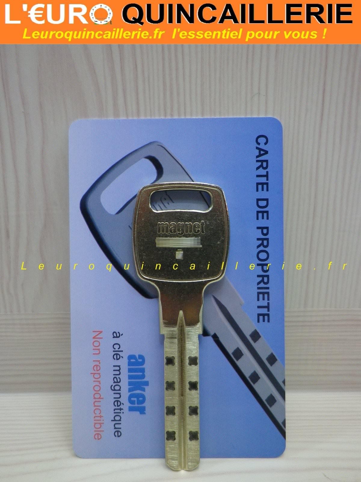 Clé brevetée Anker magnétique sur numéro