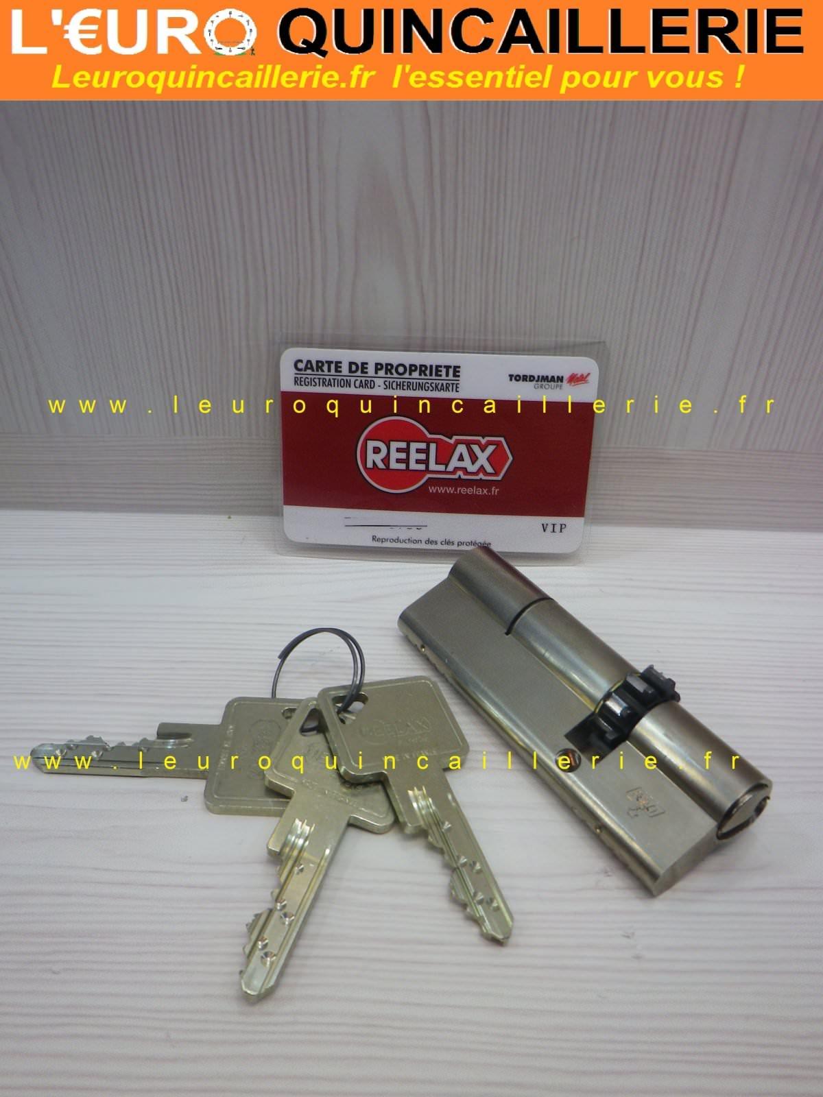 Cylindre roue dentée européen pour serrure Reelax Vachette Vip avec 3 clés brevetées