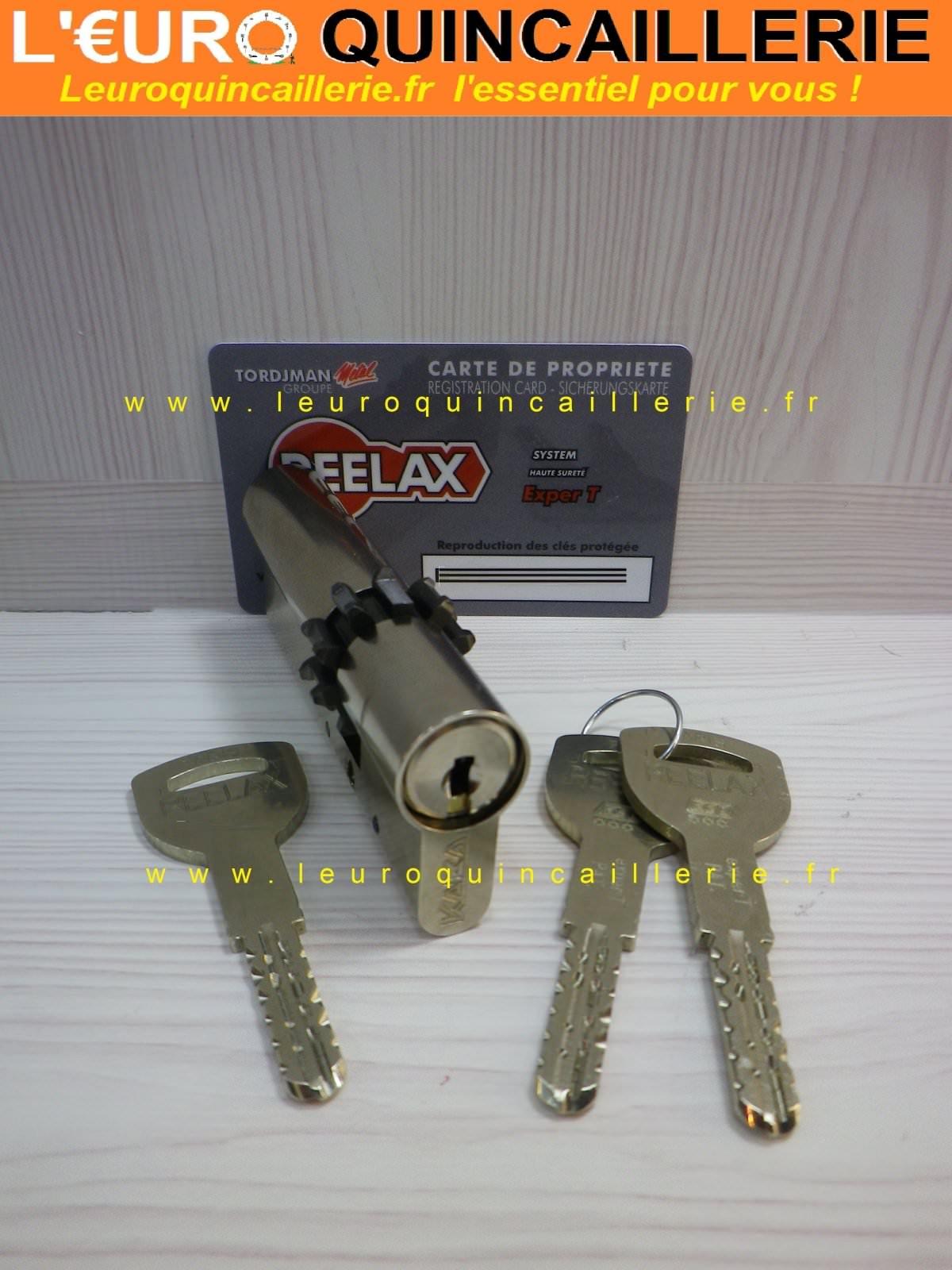 Cylindres roue dentée Kaba Exper-T pour serrure Reelax avec 3 clés brevetées, 10 dents