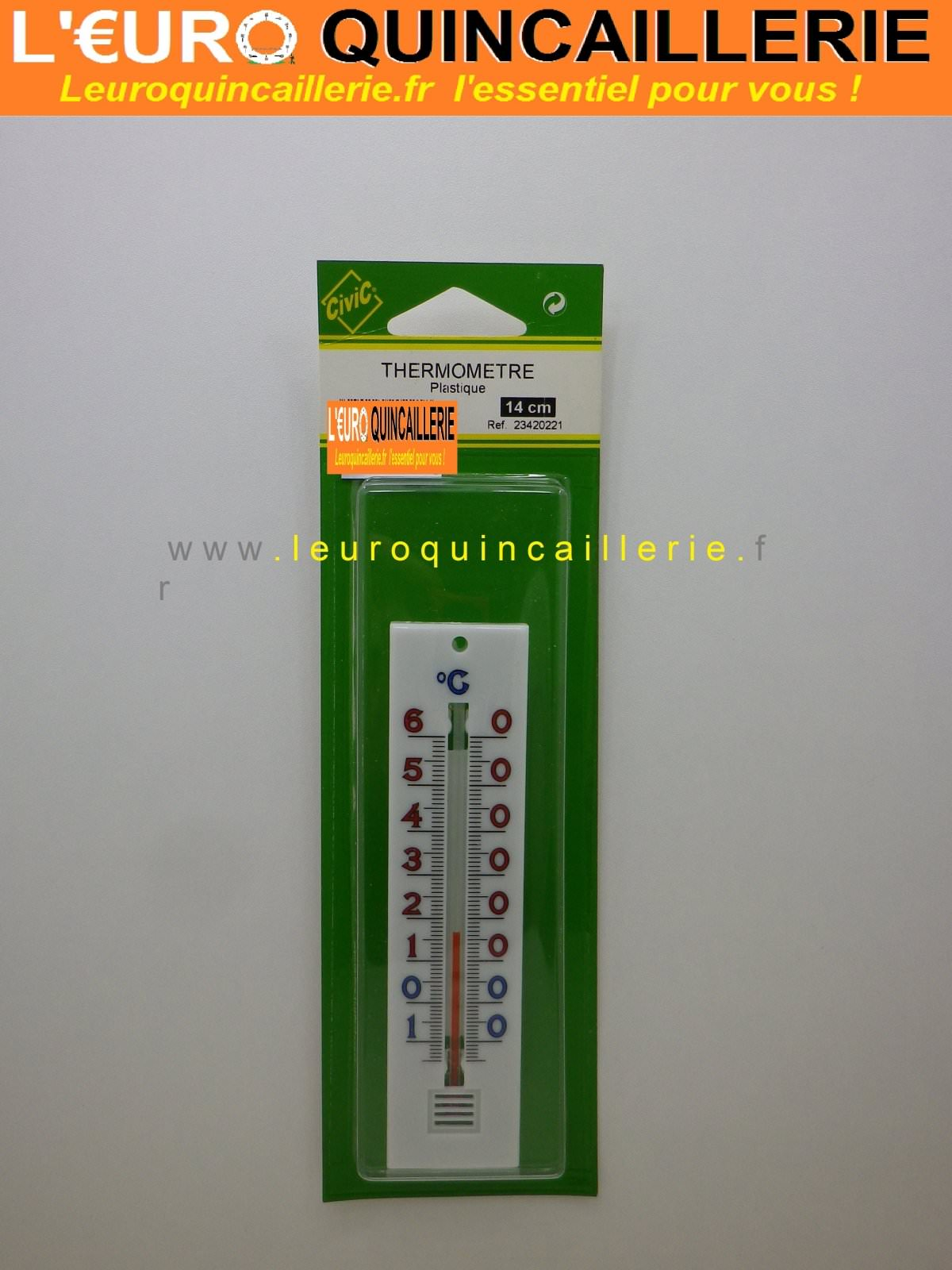 Thermomètre plastique 14 cm