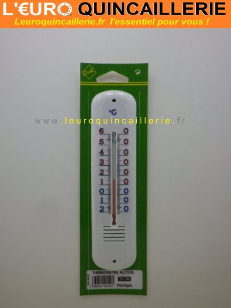 Thermomètre alcool plastique 19 cm