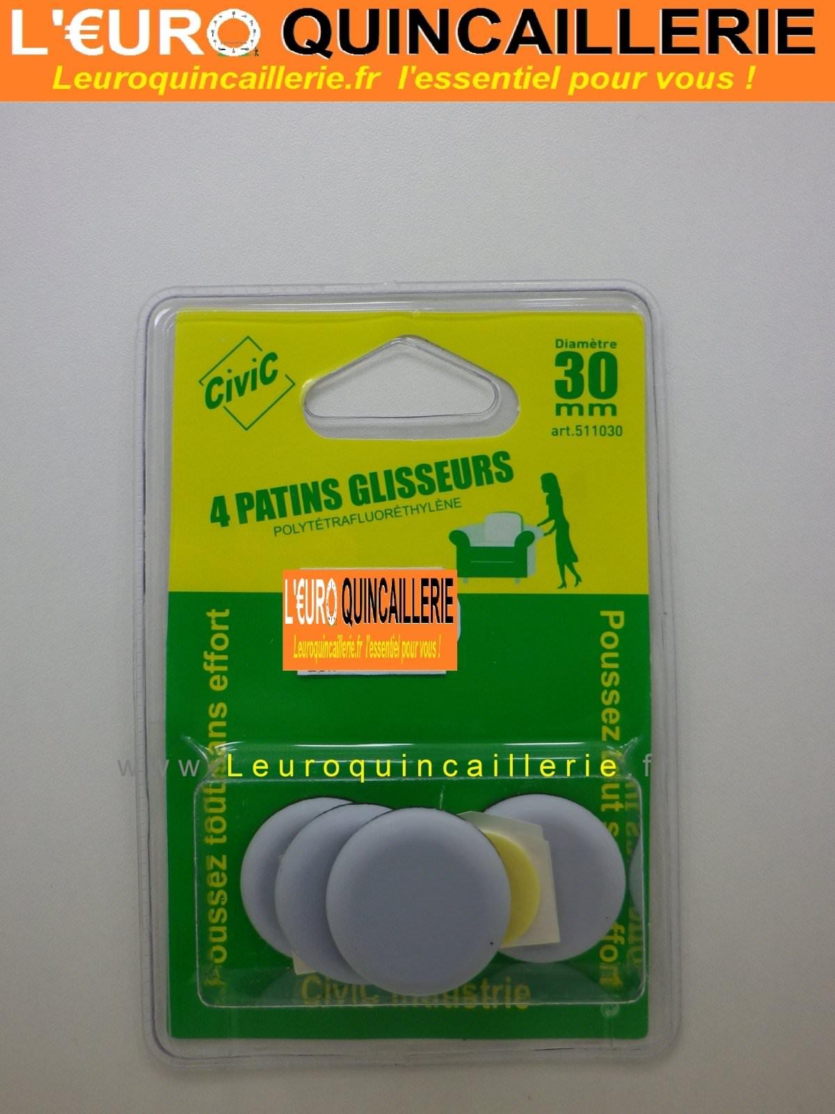 Patins glisseurs téflon rond 30mm