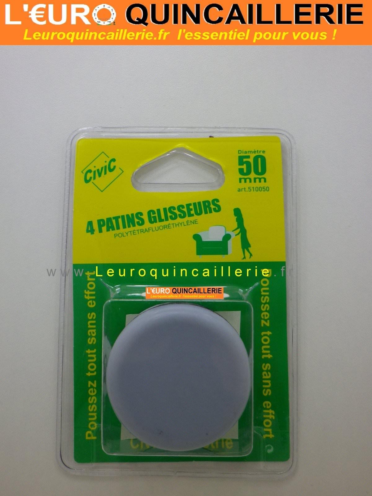 Patins glisseurs téflon rond 50mm