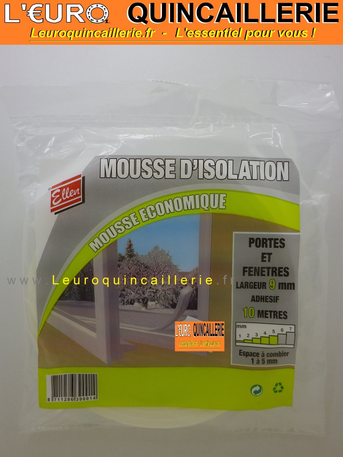 JOINT MOUSSE ISOLATION ADHESIF 9MM