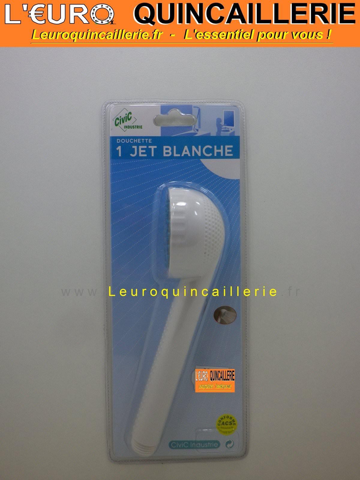 Douchette 1 jet blanche