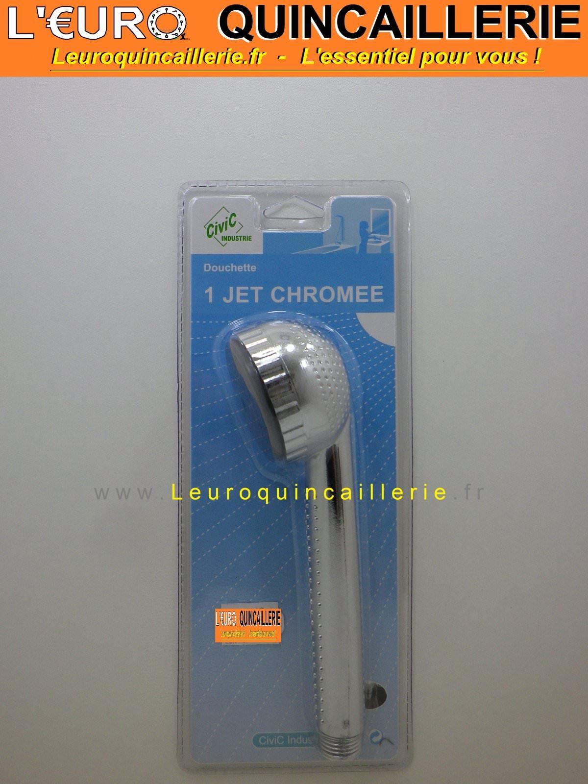 Douchette 1 jet chromée